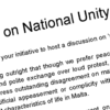 Conference on National Unity - Repubblika's Position Paper