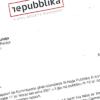 Ittra mibgħuta minn  Repubblika lill-Kummissarju tal-Pulizija